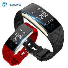 Спортивные teamyo Smart Band S2 Фитнес трекер сердечного ритма Мониторы умный Браслет IP67 Водонепроницаемый шагомер для iphone телефона Android
