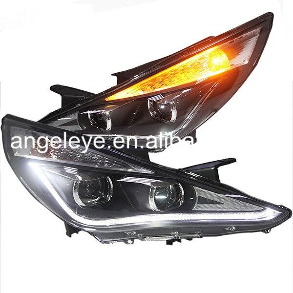 angel eyes led head lamp 2009 11 year tlz for hyundai sonata For HYUNDAI Sonata YF Sonata I45 LED Headlights 2009-2014 year  TLZ