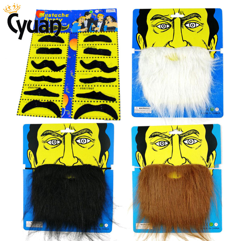 Funny Fake Mustache Photobooth Props Cosplay Fake Beard Costume Party Beards Whisker For Kids Adult Mexican Party Decorations(China)