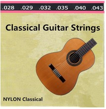 Musical instruments 1 set (028-043) Clear Nylon Tie guitar Strings for classical acoustic guitar Accessories