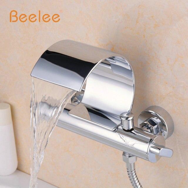 Beelee Q3025W Montaggio A Parete Vasca Da bagno Rubinetto Due ...