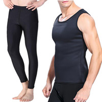 Men S Hot Shapers Weight Loss Shirt Compression Slimming Pants Neoprene Waist Fitness Body Shaper Vest