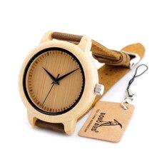 BOBO BIRD A09 Men's Bamboo Wooden Quartz Unique Wristwatch Lightweight With Japanese Movement In Gift Box