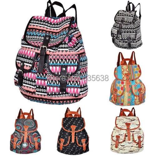 Vintage Canvas Satchel Backpack Hobo Cute Womens Rucksack Shoulder School Bag