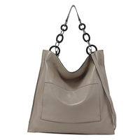 Brand luxury 100% genuine leather handbags for women fashion pocket large capacity big chain shoulder bags tote hobos A4