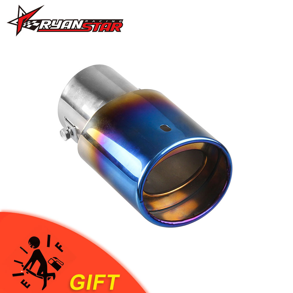 """2.25/""""Exhaust Round Rolled Out Bolt On Tailpipe Stainless Steel Trim"""