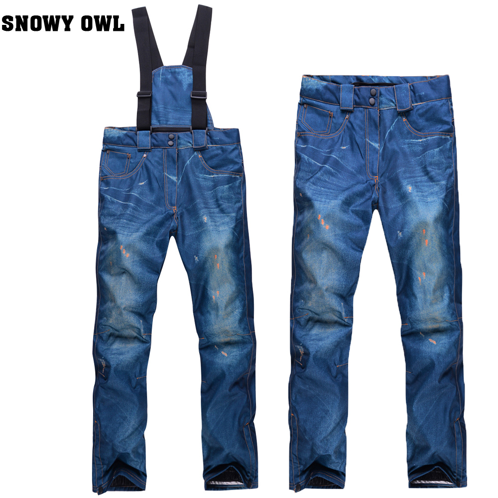 New Arrival Waterproof Breathable font b Womens b font Skiing Pants Snowboard Pants Thermal Thicken Cotton