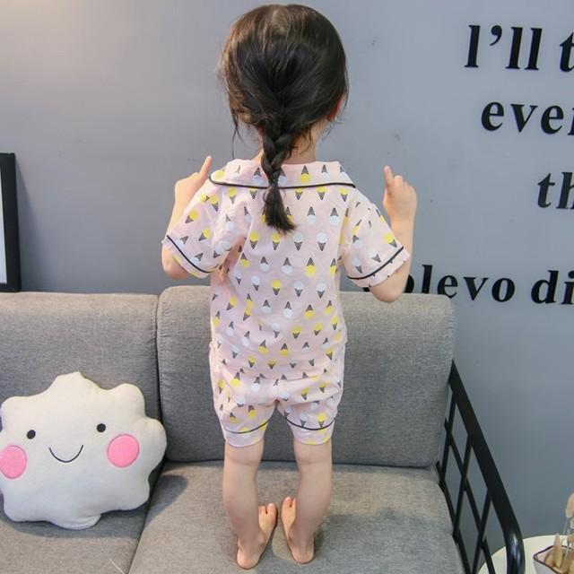 Children's Ice Cream Patterned Pajama