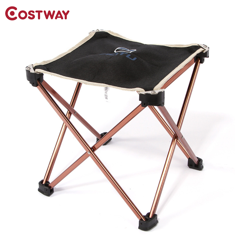 COSTWAY Ultra Light Outdoor Aluminum Square Stool Camping Folding Chair Oxford Cloth Fishing Chair Portable Beach Chair W0262 costway outdoor aluminum alloy backrest stool camping folding chair oxford cloth fishing chair portable beach chair w0263