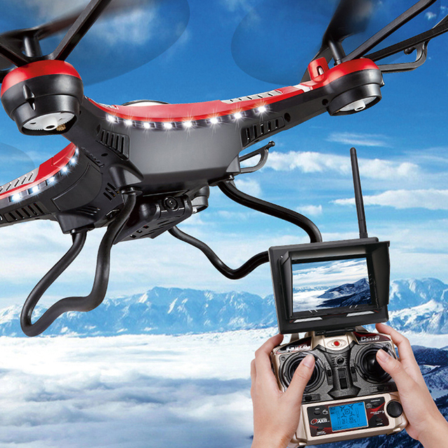 Jjrc h8d 2.4 ghz 5.8g fpv fpv rc quadcopter con cámara de 2mp Headless Modo Monitor Display RTF RC helicóptero Luz LED RC Drones