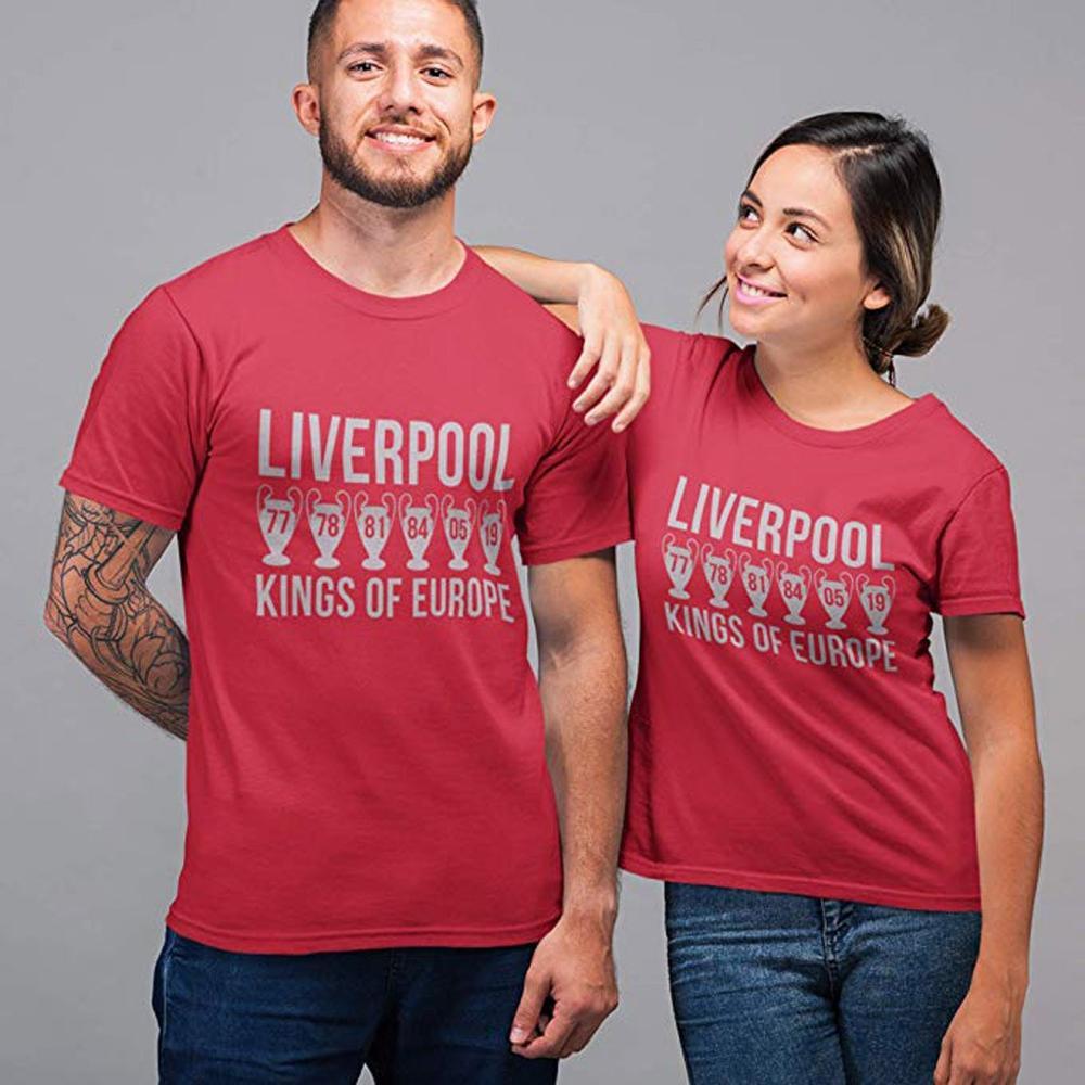 Summer Mens Casual Tshirt Short Sleeve Slim Fit Top Liverpool Fashion Letter Print Shirts Streetwear Camisetas Dropshipping C