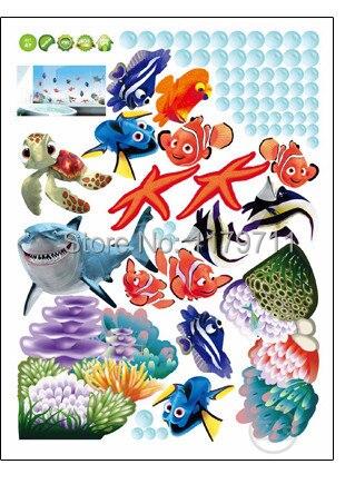 Zs Sticker nemo ձկան մուլտֆիլմ պատի - Տնային դեկոր - Լուսանկար 6