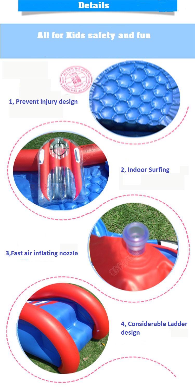 HTB1EKoWXBUSMeJjy1zkq6yWmpXaL - 3.8m Giant Kids Inflatable Surf 'N Slide Play Center Water Slide with Pump