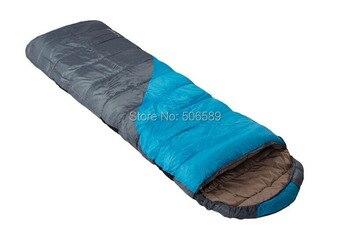 free shipping camping hiking sleeping bag envelop type hollow cotton sleeping bag 230x80cm 2.2 kg