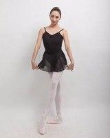 Adult Ballet Camisole Skirt Classical Dance Suit For Professional Dancer Lycra Black Tights De Danza Gymnastics