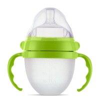 Full Silicone Bottle Drop Baby Feeding Tableware Wide Caliber Curved Bottle Anti Flatulence Bottle