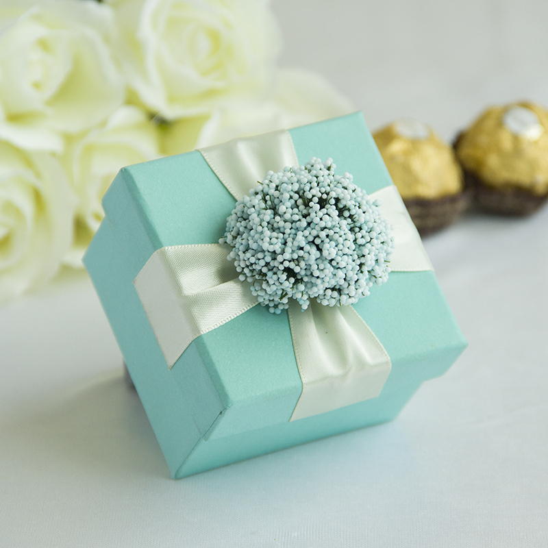 Baby Blue Wedding Candy Gifts Chocolate Handmade Favors Boxes With