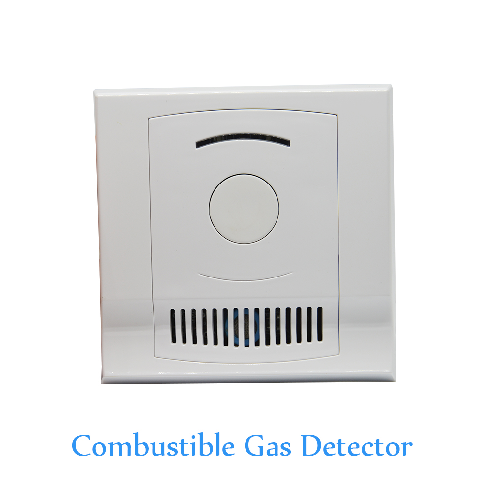 Indoor Use Wall-Mounted Combustible Gas Detector Coal Natural LPG Gas Leak Fire Alarm CH4 Leaking Sensor NC NO Signal Options