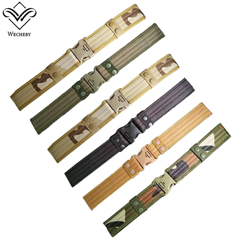 Wechery Military Equiment Army Belt for Men Camouflage Buckles Strap Slimming Belts Mens Waistband Tactical Wasit Straps