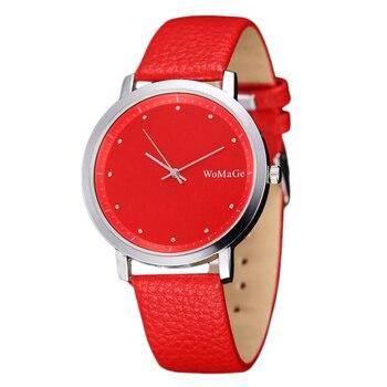 16aba7b8e576 Модные красные Для женщин часы Montre Femme Винтаж кварцевые Для ...