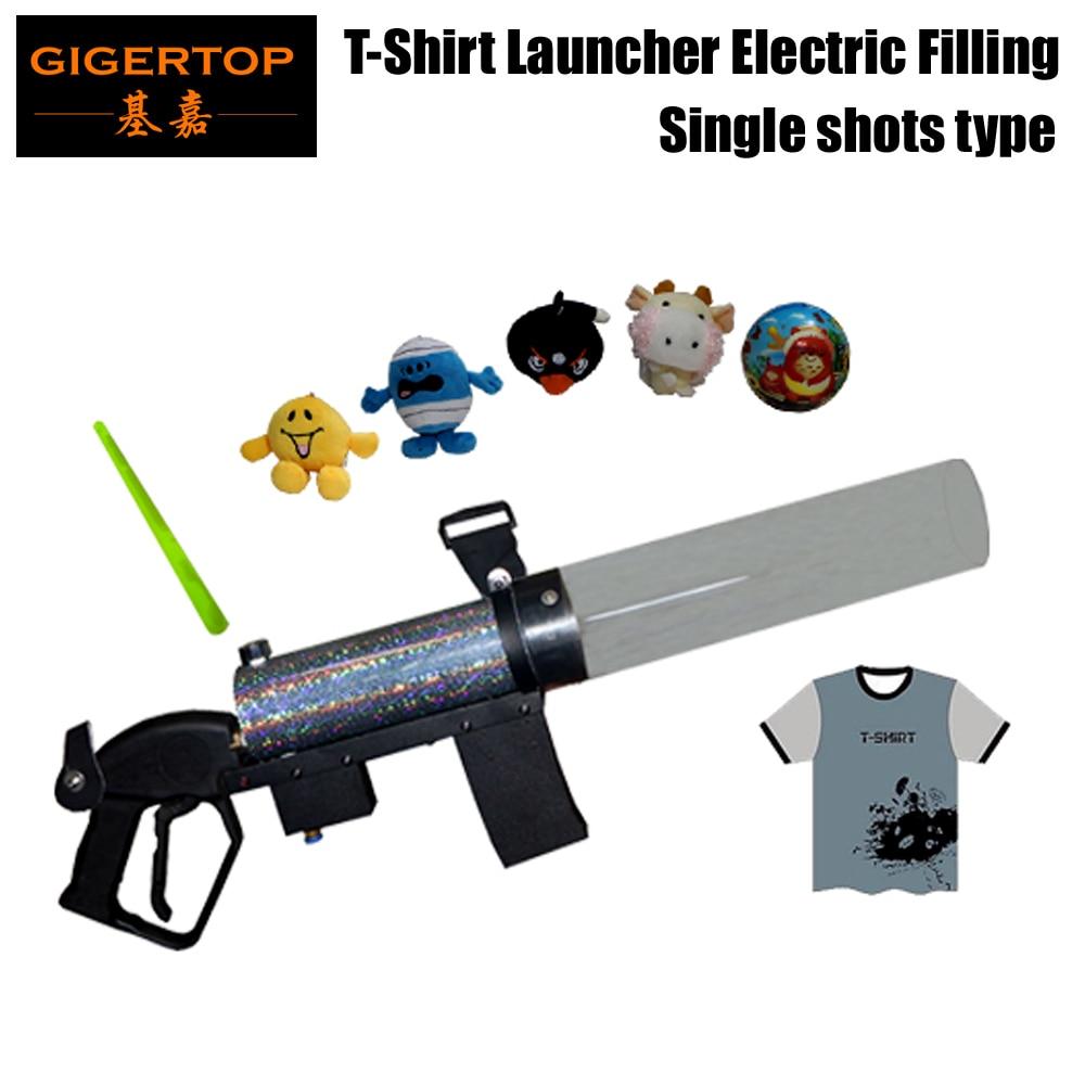 Gigertop Electric Filling and Single Shot Micro Mini T Shirt Gun Solenoid Valve Air Pressure Indicator Hot Shot Air Cannon фляга shot gun