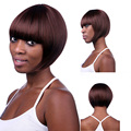 29cm Long 33/350# Straight Wig with Neat Bang Synthetic Short Bob wigs for Black Women Cheap Wigs Online