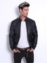 VAINAS European Brand Mens Leather jacket for men Winter Real sheep leather Genuine jackets Biker
