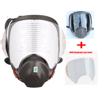 Industry Painting Spraying Full Face Gas Mask Same For 3M6800 Chemcial Dust Mask Respirator With Lens Protective Film