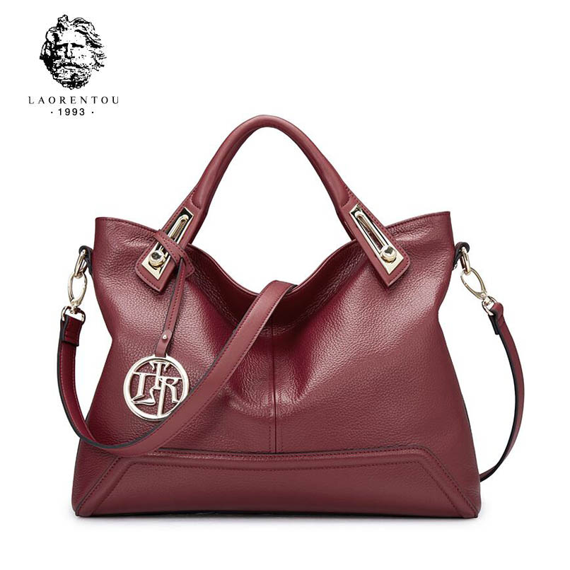 все цены на 2017 New LAORENTOU brand genuine leather women bag luxury handbags women bags designer women leather handbags
