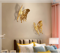 Custom Dining Room Wall Hangings Creative Three dimensional Wall Decoration Metal Butterfly Ornament Gifts