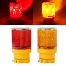 Red Yellow Solar Warning Light LED Boat Light Navigation Emergency Flash Light Boat Alarm Lamp For Traffic Road Warning keizik k a333 8 led shark gill solar side vent warning light black