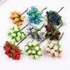 12Pcs Silk Artificial Flowers Mini Rose Bouquet