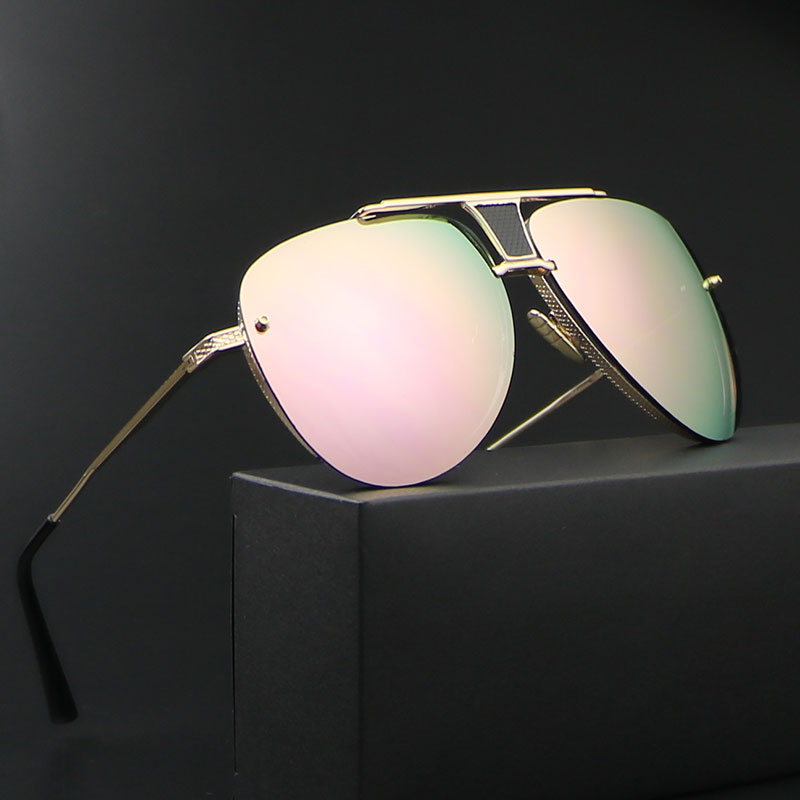 Aviator Sunglasses Men women 2018 Luxury Brand Designer Vintage Ray Rimless Sunglases fo ...
