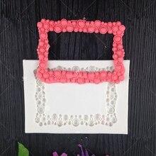 3D Diamonds Gem Silicone Fondant Molds Frame Jewelry Cake Decorating Tools Pearl Chocolate Gumpaste Mold h694