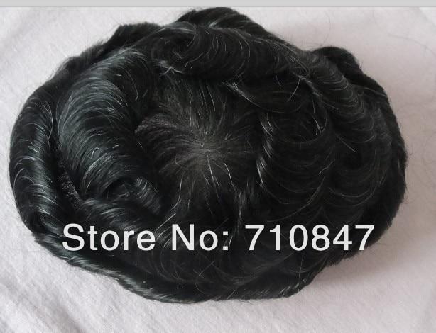 CUSTOM MADE 100 human hair men toupee free shipping