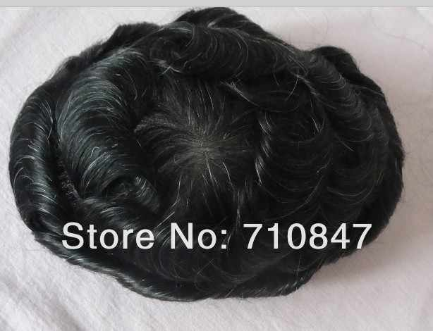 Hecho a medida 100% cabello humano hombres tupé envío gratis