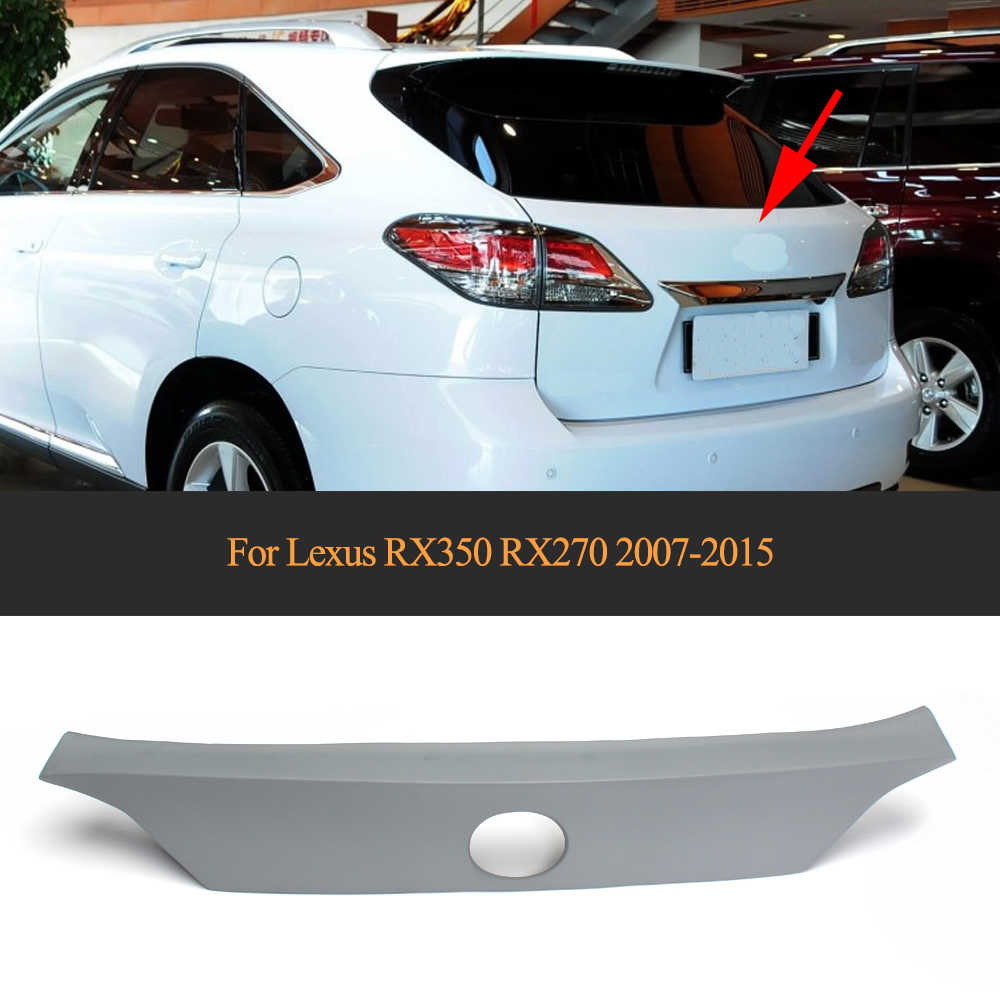 PU car trunk rear spoiler auto rear window wing fit for Lexus RX350 RX270 2007-2015