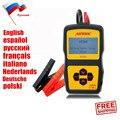 Original autool bt360 12 v car automotive auto testador de bateria analisador de bateria de multi-idioma espanhol russo suporte 2000 en/cca