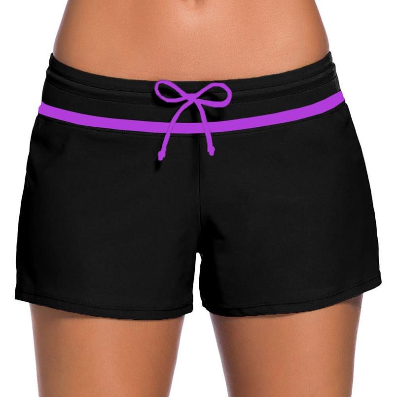 2019 Sexy Women One-piece Low-waist Swimming Trunks Beach Pants Board Shorts Leisure Split Swimsuits Summer