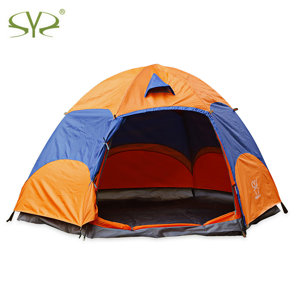 SHENGYUAN Foldable Outdoor Camping Tent Windproof Water-Resistance Large Tents Multi-Person Double-Layer For Camping Hiking mobi outdoor camping equipment hiking waterproof tents high quality wigwam double layer big camping tent