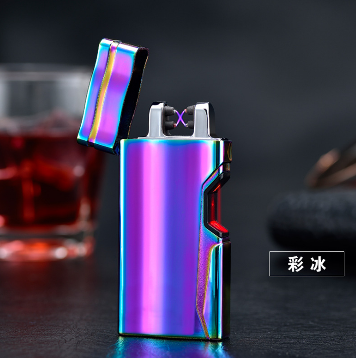 Luxury Electronic Cigarette Lighter Pulsed Arc Flameless Rechargeable Usb Lighter Thunder Metal Touch Senstive Switch Lighter