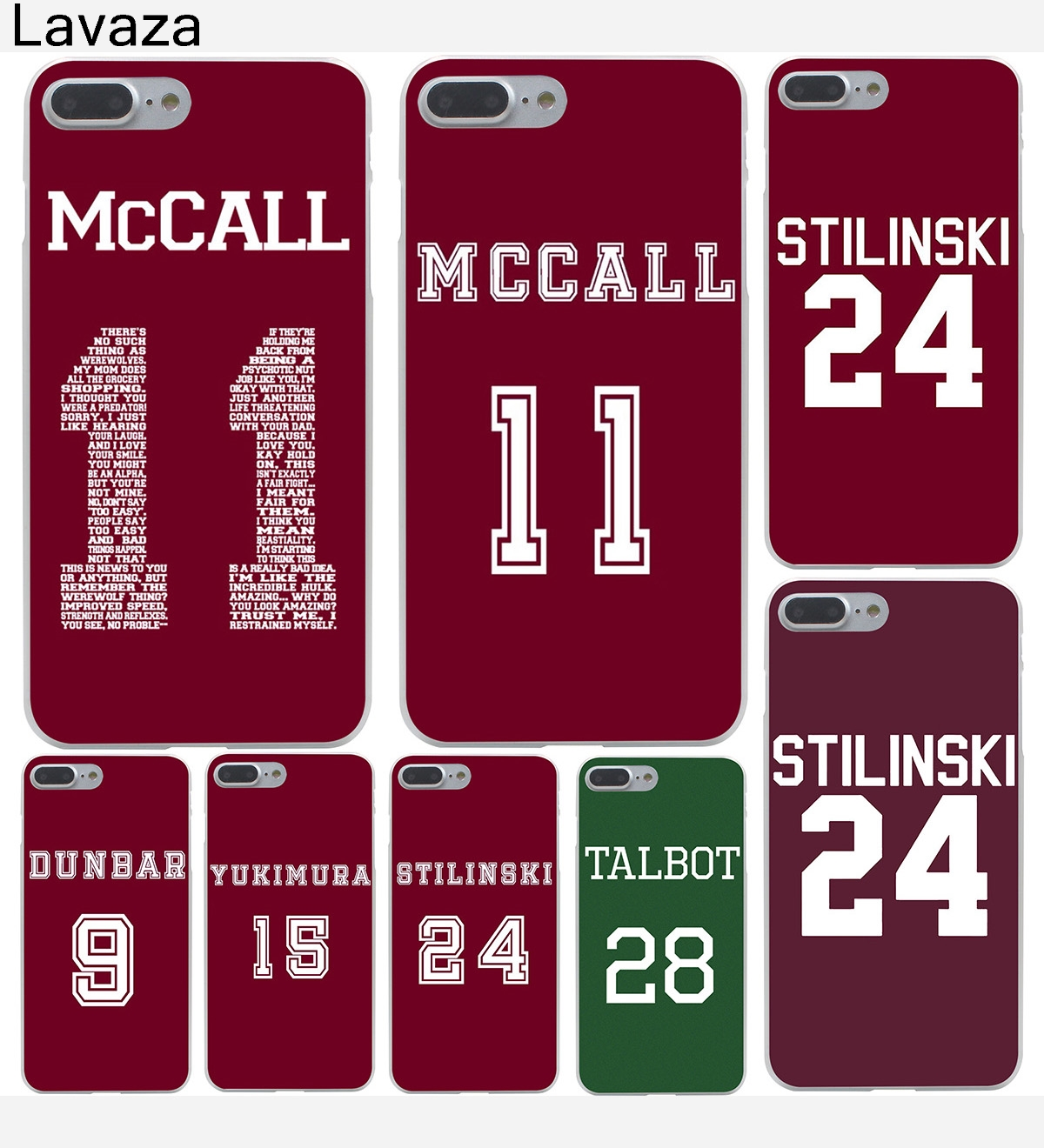 Lavaza Teen Wolf Mccall 11 Words Hard Case Shell for Apple iPhone 6 6s 7 8 Plus 4 4S 5 5S SE 5C for iPhone XS Max XR Cases