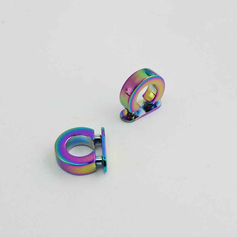 ... 10pcs 30pcs Rainbow metal fitting hardware handbag bag tassel cap clasp D  ring buckle screw ... 65463781e48b