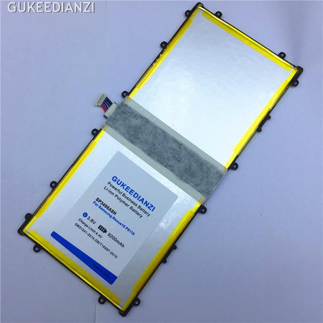 GUKEEDIANZI 100% Nuovo 9200 mAh Tablet Batteria di Ricambio Per Samsung Google Nexus 10 P8110 GT-P8110 Bateria SP3496A8H