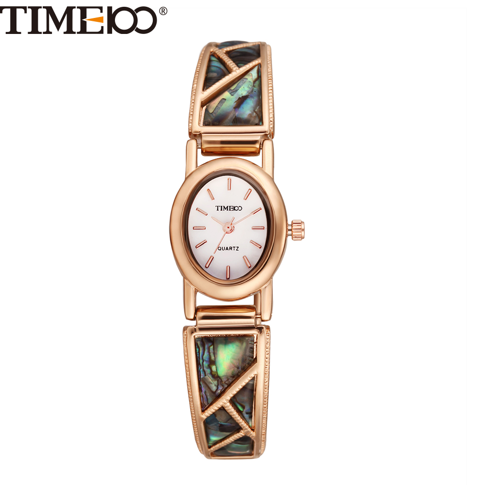 TIME100 Vintage Women Bracelet Watch Analog Quartz Rhinestone Clasp Alloy Strap Dress Wrist Watches For Women relojes de marca vintage faux leather layered rhinestone bracelet for women
