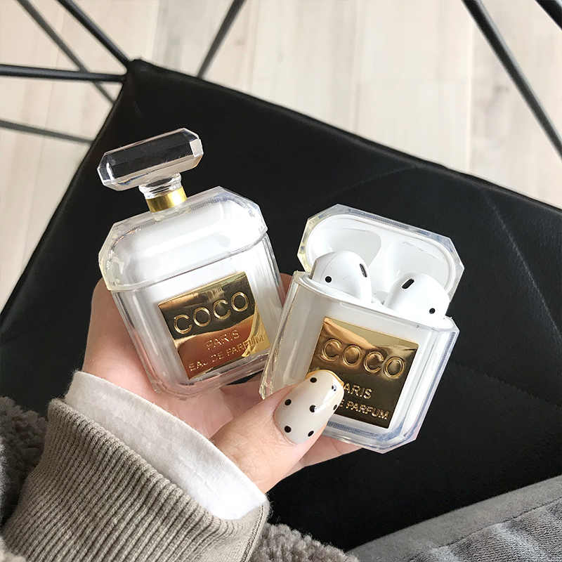 Perfume Bottle Case For Airpods 1 2 Earphone Protective Cover Bluetooth Wireless Earphone Case Charging Box Case Bags