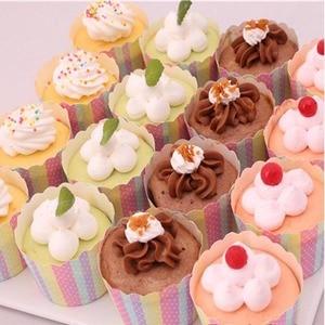 Image 4 - LIFETALK 50 Pezzi Del Partito Cupcake Decorazione di Cottura Della Muffa Della Focaccina Mini Tazze di Carta di Cottura