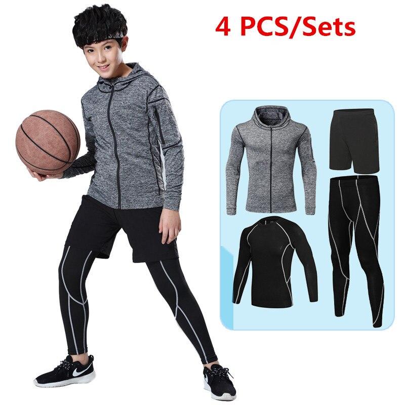 9b8b965ec leggings pants shirts kids compression running sets basketball soccer  football fitness