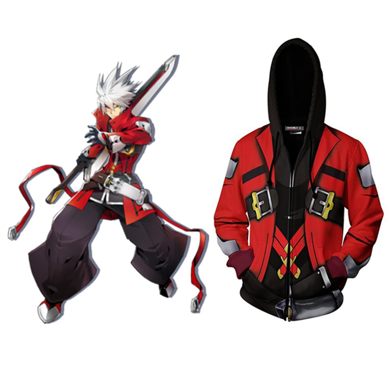 BLAZBLUE ALTER MEMORY Grim Reaper Hoodies Jackets Cosplay Costume Fashion Cartoon Hooded Sweatshirts Spring Casual Outerwear