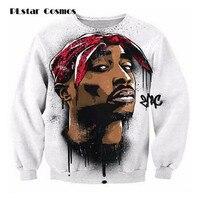 PLstar Cosmos Harajuku 2pac Tupac Sweatshirt 3D Long Sleeve 0 Neck Pullover 2pac Tupac Print Sweatshirts